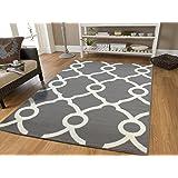 Amazon Com Gray Moroccan Trellis 2 0x3 0 Area Rug Carpet