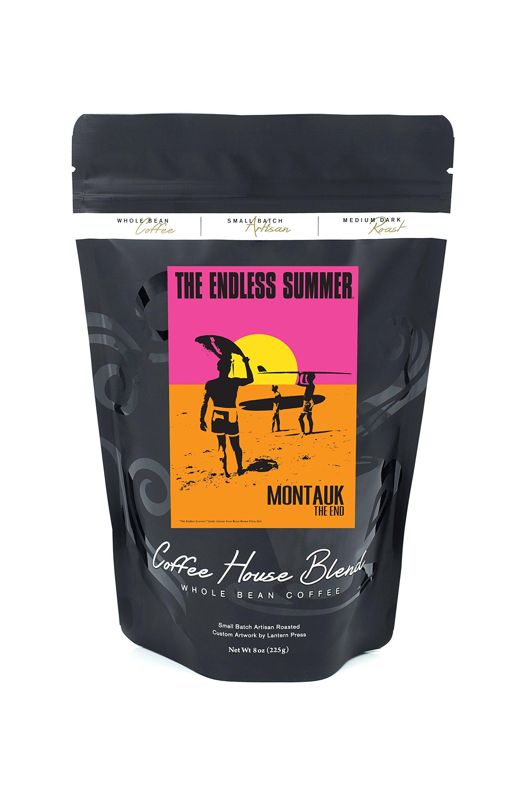 Montauk, New York - The Endless Summer - Original Movie Poster (8oz Whole Bean Small Batch Artisan Coffee - Bold & Strong Medium Dark Roast w/ Artwork)
