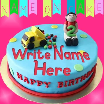 Marvelous Amazon Com Name On Birthday Cake Offline Appstore For Android Personalised Birthday Cards Bromeletsinfo