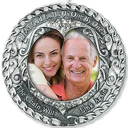 Amazon.com: Broken Chain Memorial Ornament - Photo Ornament with ...