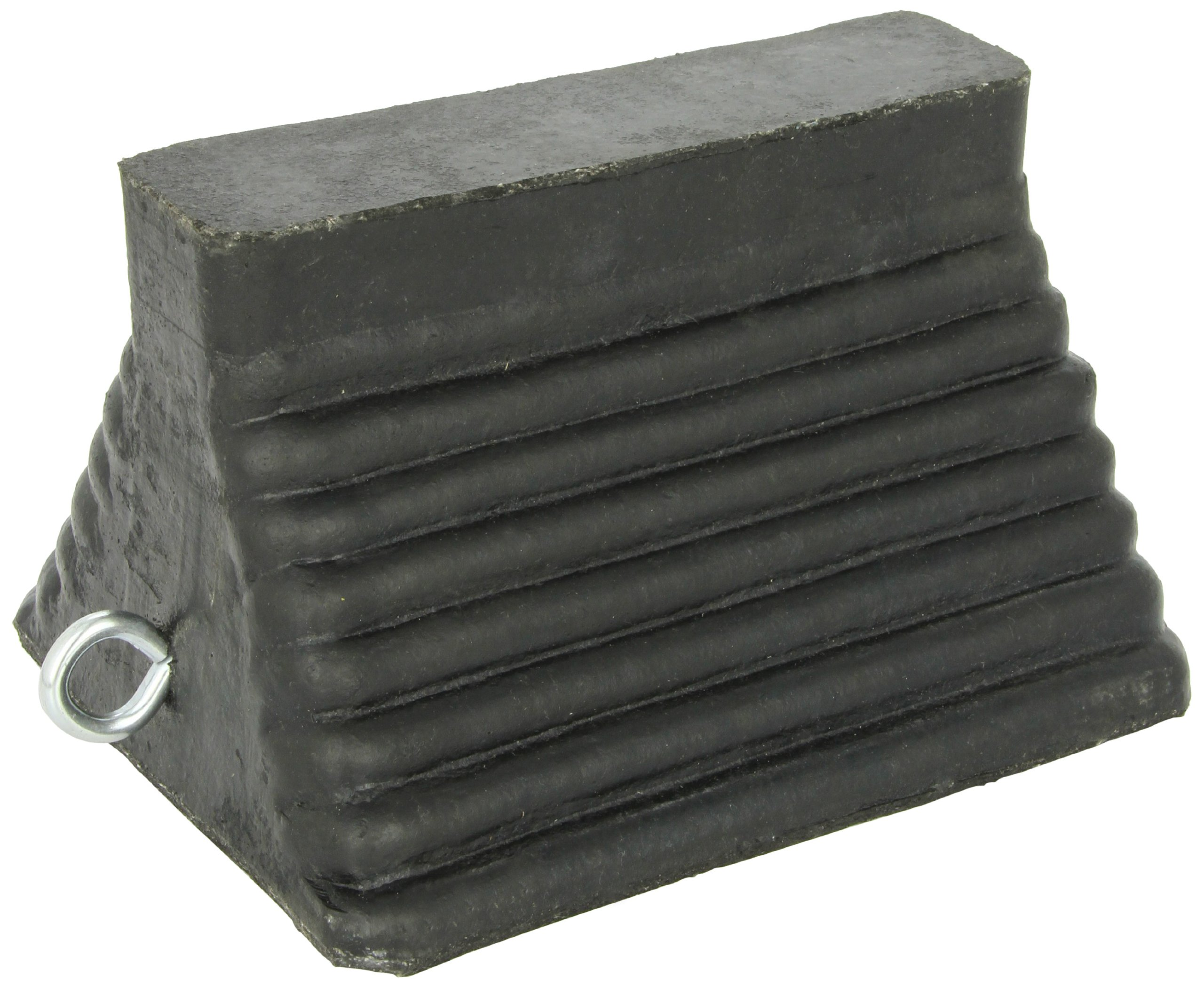 Durable Corporation Black Molded Wheel Chock, 9'' Length x 8'' Width x 5-3/4'' Height