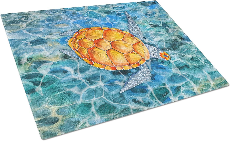Amazon Com Caroline S Treasures Bb5364lcb Sea Turtle Glass Cutting Board Large 12h X 16w Multicolor Kitchen Dining