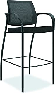 product image for HON Ignition Cafe Height Stool with Mesh Back and Upholstered Seat, Black