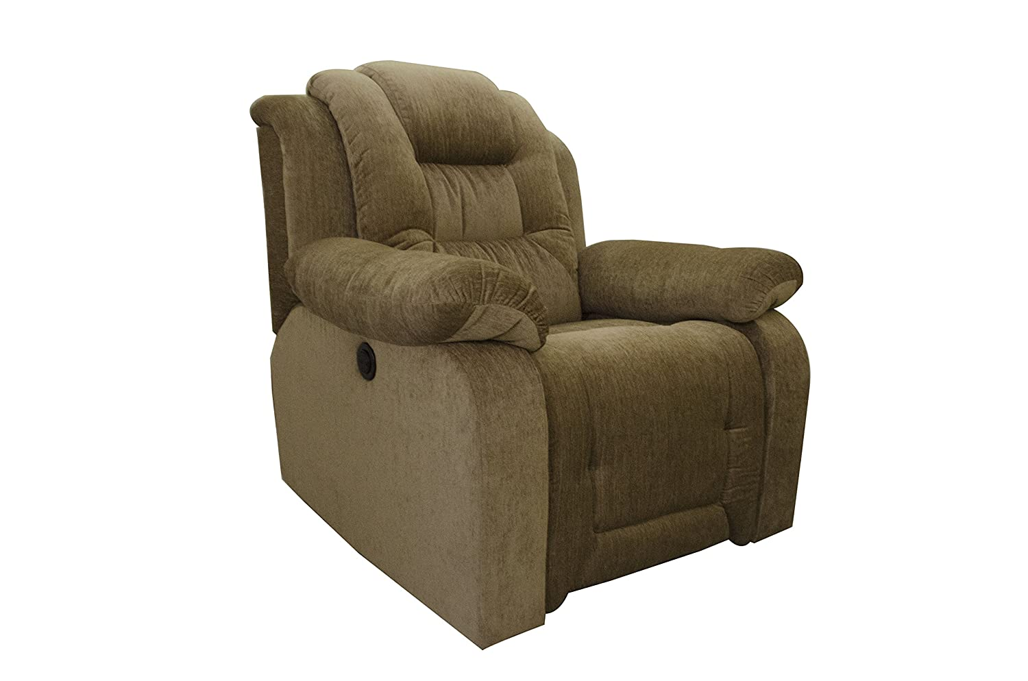 8.AE Designs Motorized Fabric Recliner in Olive Brown
