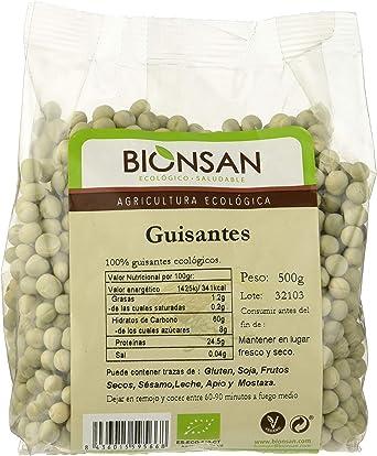 Bionsan Guisantes Ecológicos | Legumbres Naturales | 6 Bolsas ...
