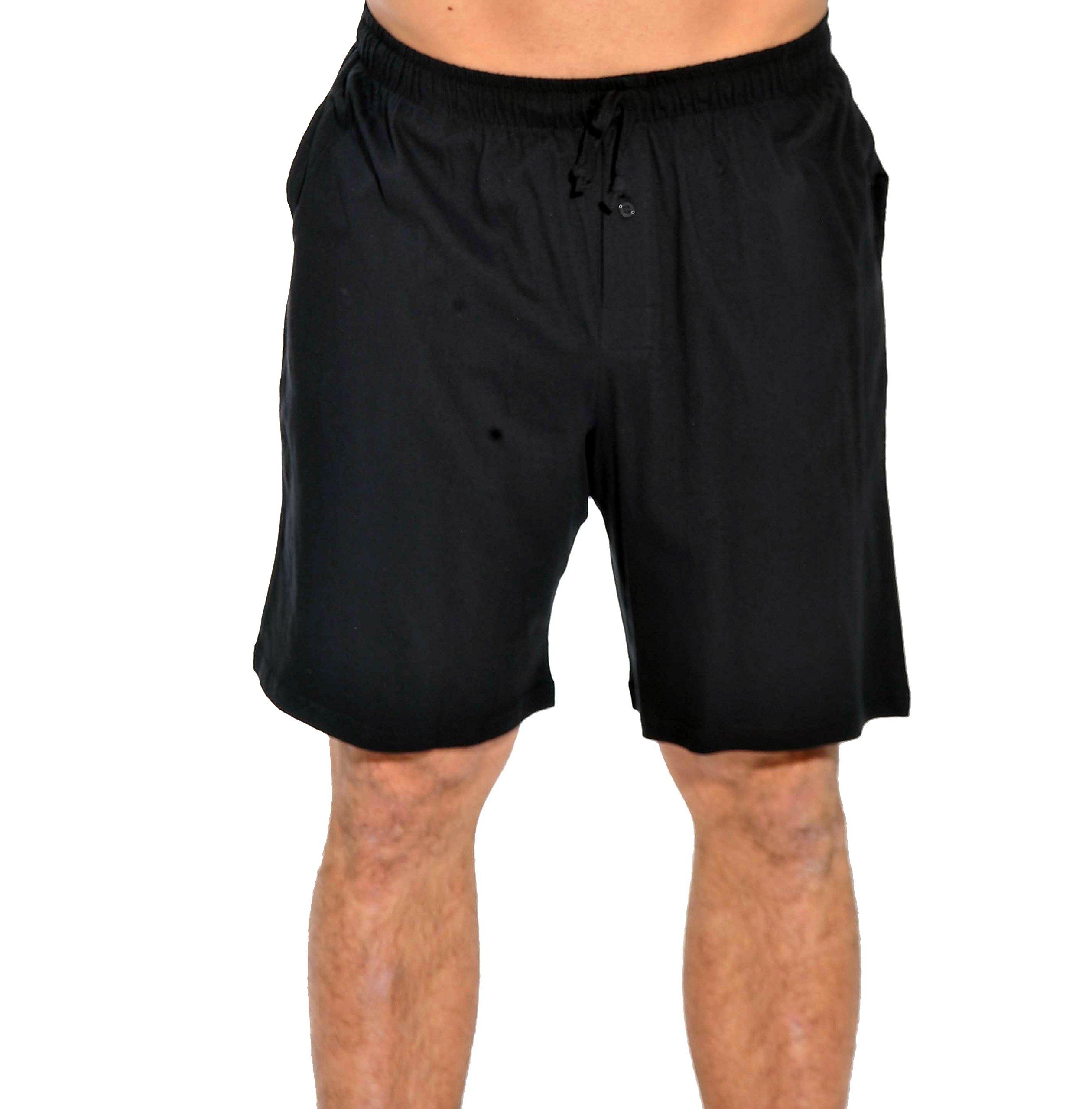 14501-Black-XXL At the Buzzer Men's Pajama Shorts / Sleepwear / PJs,Black,XX-Large