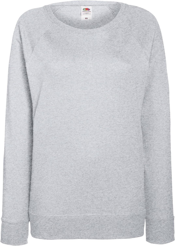 Fruit of the Loom Womens Fit Lightweight Raglan Sweatshirt White XL