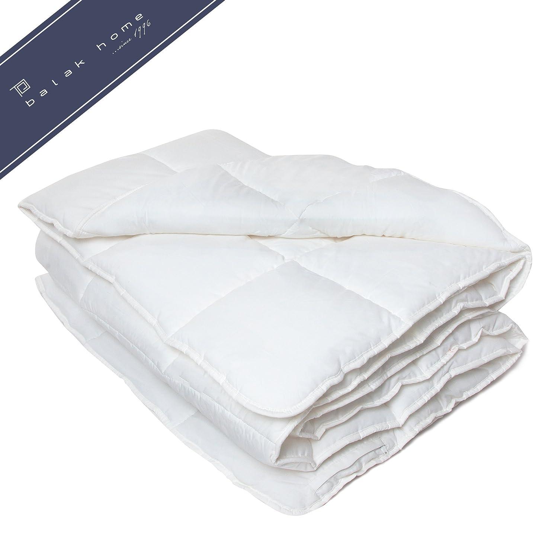 BALAK HOME® Premium Bettdecke Bettdecke Bettdecke Steppdecke Echte Wolle (135 x 200 cm) aus 100% Baumwolle   Echte Schafwolle   Gesundes und wohliges Schlafklima   Original Oeko-TEX   direkt vom Hersteller 7aba8a