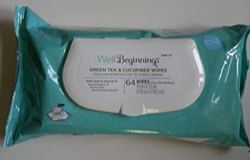 Well Beginnings Green Tea & Cucumber Baby Wipes 64 ...