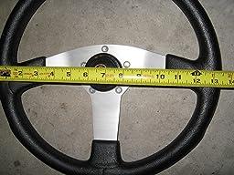 Amazon.com: Universal Fit Leather Steering Wheel Cover Medium Size ...