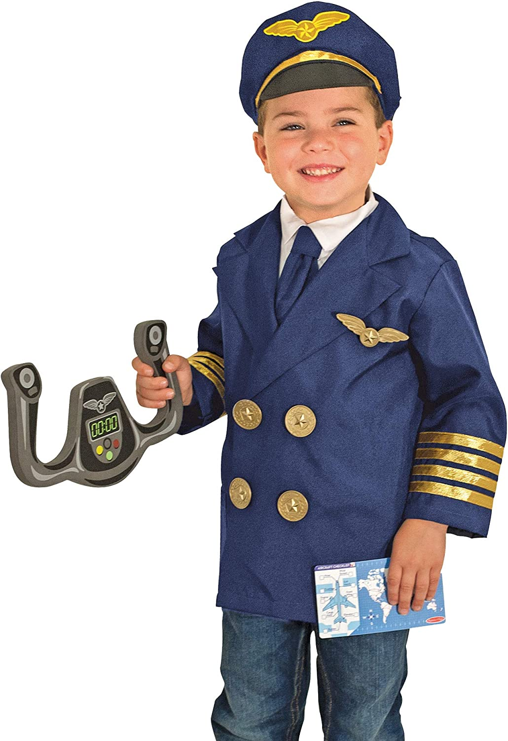 Melissa & Doug Pilot Role Play Costume Set
