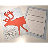 Dear Henry Easy Peasy Christmas Reindeer Kids Thank You Notes 10 Pack
