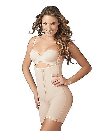 6cc2f51fee0bf Faja Body Shaper Panty Full Body Shapewear Moldeadora Bodysuit at Amazon  Women s Clothing store