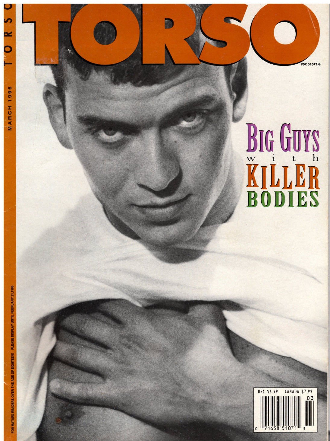 Torso Magazine - March 1996 - Carlos Morales (Big Guys with Killer Bodies)  - Adult Gay Male Interest Single Issue Magazine – 1996