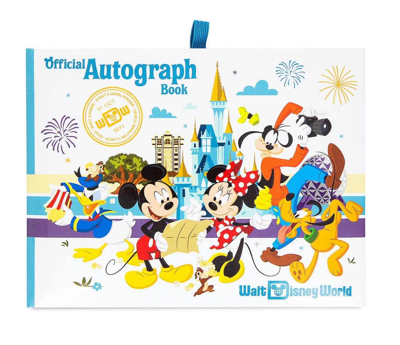 Walt Disney World Four Parks Mickey Mouse Official Autograph Book