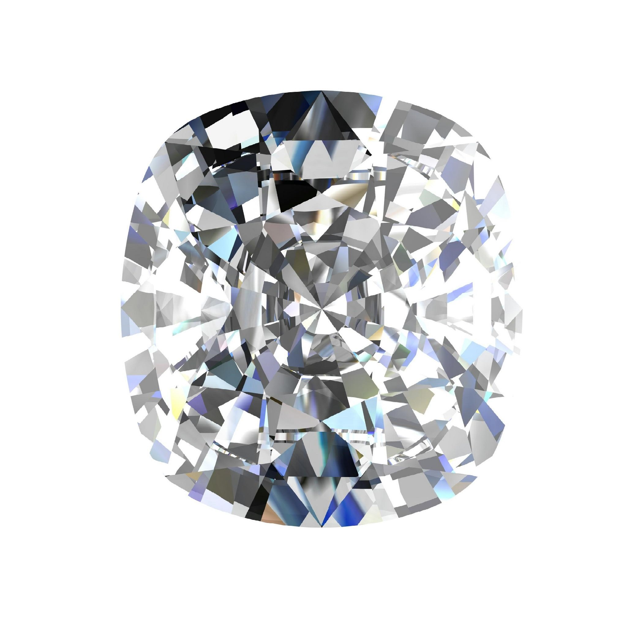 GIA Certified Natural 1.02 Carat Cushion Diamond with F Color & SI1 Clarity