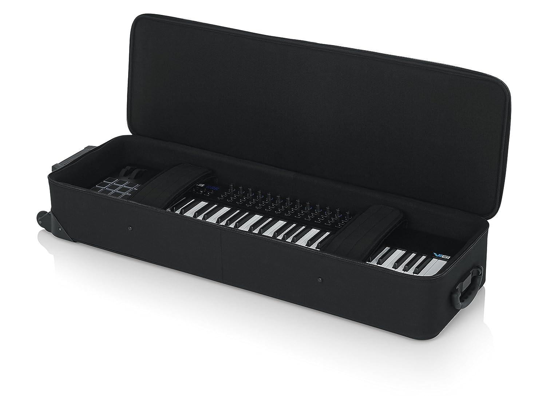 Gator - Funda para teclados pequeños de hasta 76 teclas (espuma de poliestireno, ligera, con ruedas): Amazon.es: Instrumentos musicales