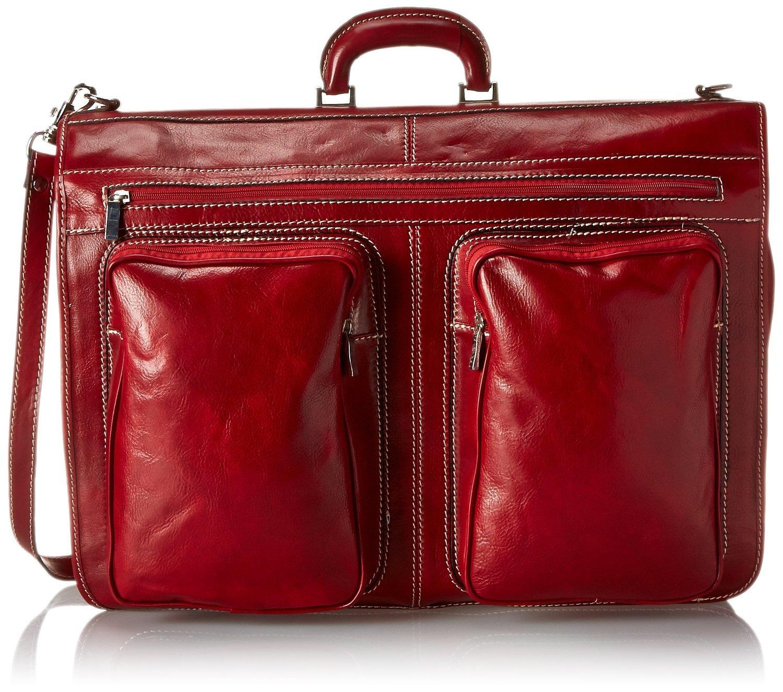 Floto Venezia Garment Bag in Tuscan Red
