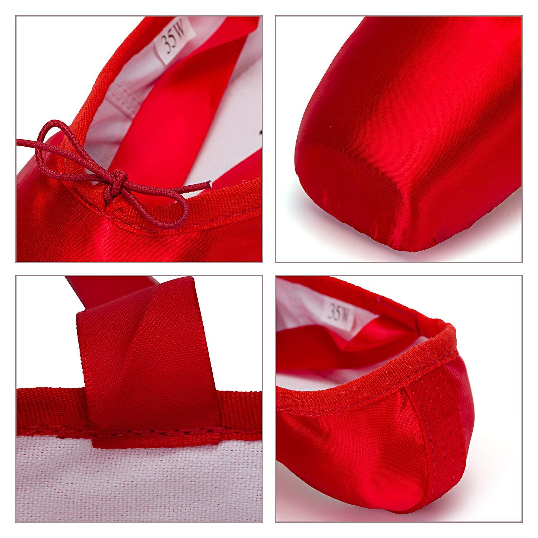 WENDYWU WENDYWU WENDYWU Damen Ballerinas Rosa Rosa 35 Rot - rot - Größe  38 3bceea