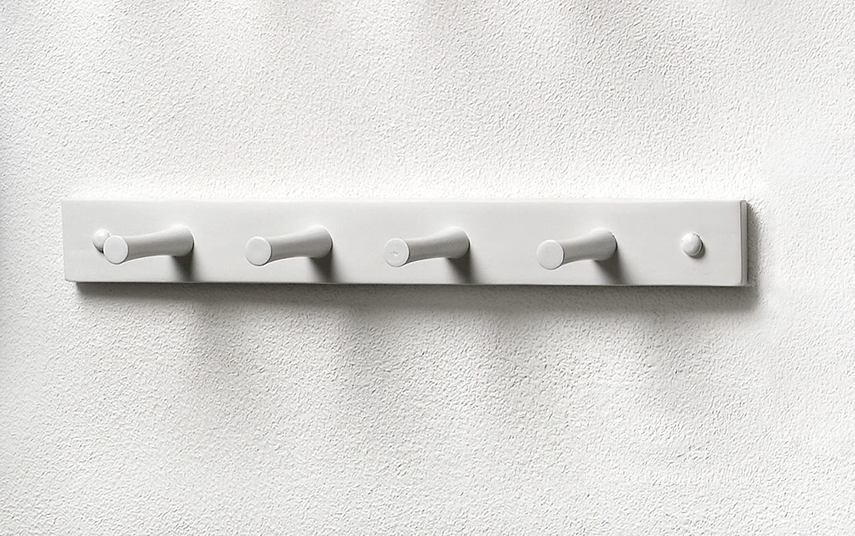 Amazon spectrum diversified wood hook rack 4 peg white for White wall hook rack