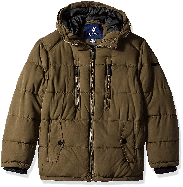 03fc9ca78 Amazon.com  Rocawear Boys  Hooded Bubble Jacket  Clothing