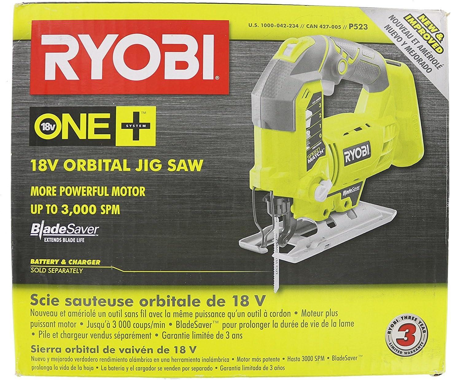 Ryobi One+ P523 Cordless Orbital T-Shaped best Jigsaw