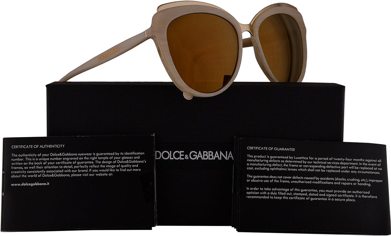 Dolce & Gabbana DG4304 gafas de sol w / 57mm Marrón Espejo Lente 3084F9 DG 4304 mujer amarillento de Hornos Grande: Amazon.es: Ropa y accesorios