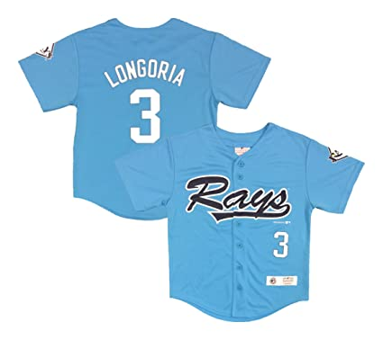 newest ed411 03af1 Amazon.com: Evan Longoria Tampa Bay Rays #3 Light Blue Youth ...