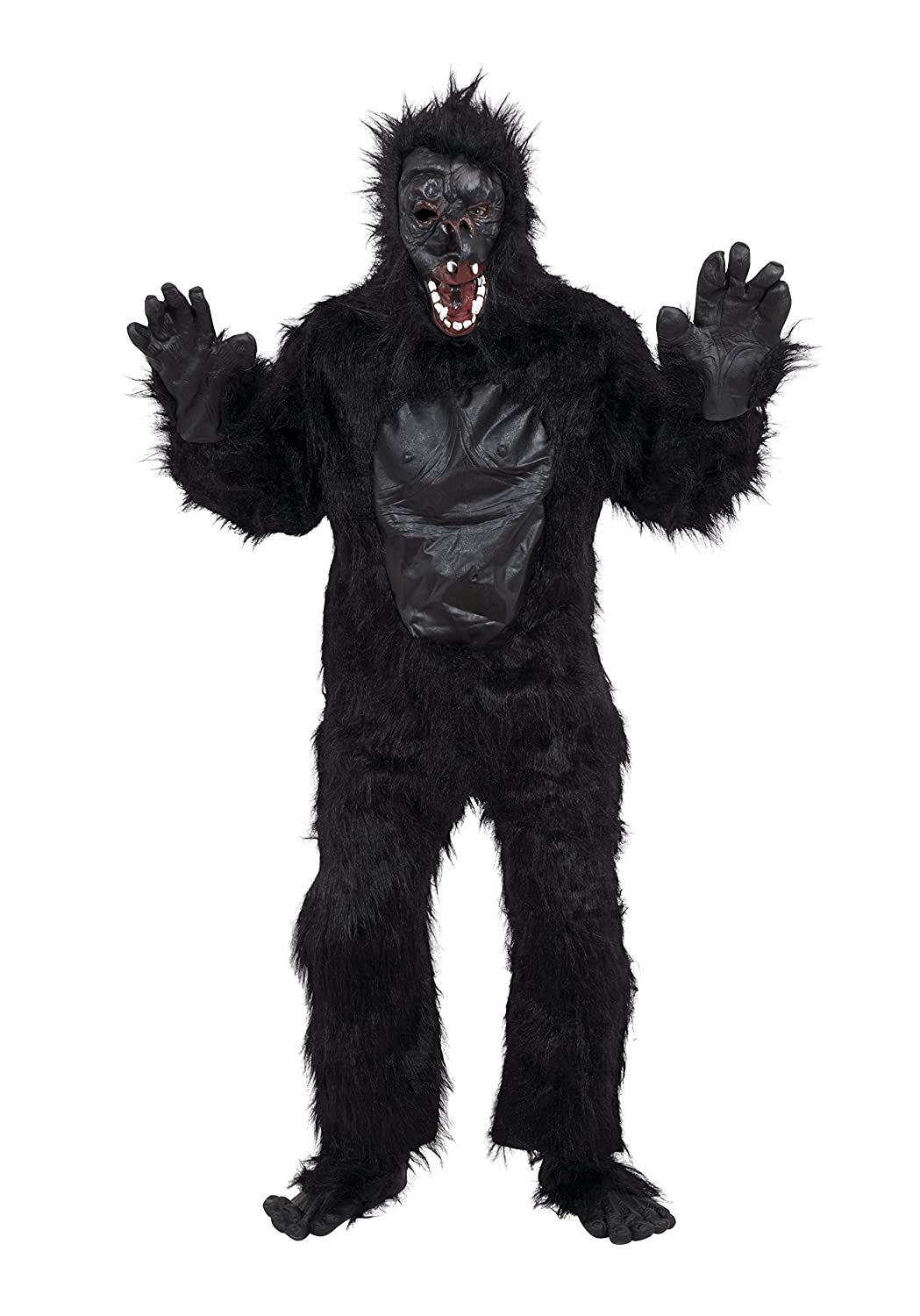 GORILLA suit HIGH QUALITY fur latex w/ MASK HANDS FEET: Bristol ...