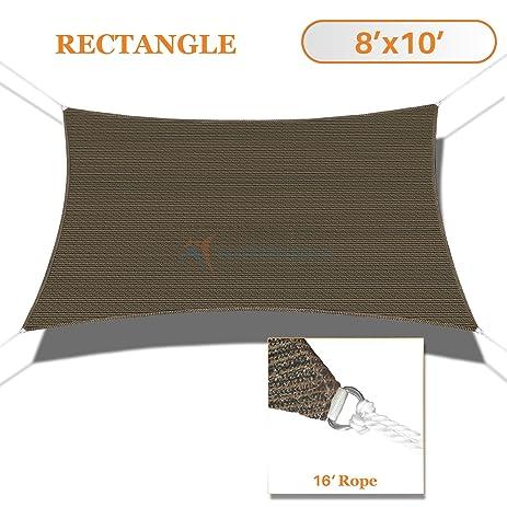 sunshades depot 8u0027 x 10u0027 sun shade sail rctangle permeable canopy brown coffee custom