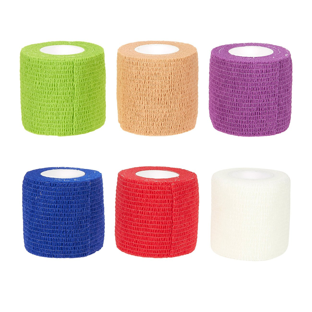 Juvale Pack of 12 Vet Wraps - Gauze Rolls - Cohesive Bandage - Bandage Wrap for Animals, Assorted Colors, 2 Inches x 66.9 Inches by Juvale (Image #4)