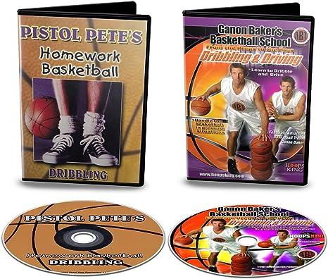 HoopsKing Basketball Dribbling DVD Pack - Old School & New School - Pete Maravich & Ganon Baker Dribbling Videos: Amazon.es: Deportes y aire libre