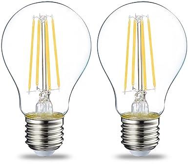AmazonBasics E27 LED Lampe, 7W (ersetzt 60W), klar, 2er-Pack: Amazon ...