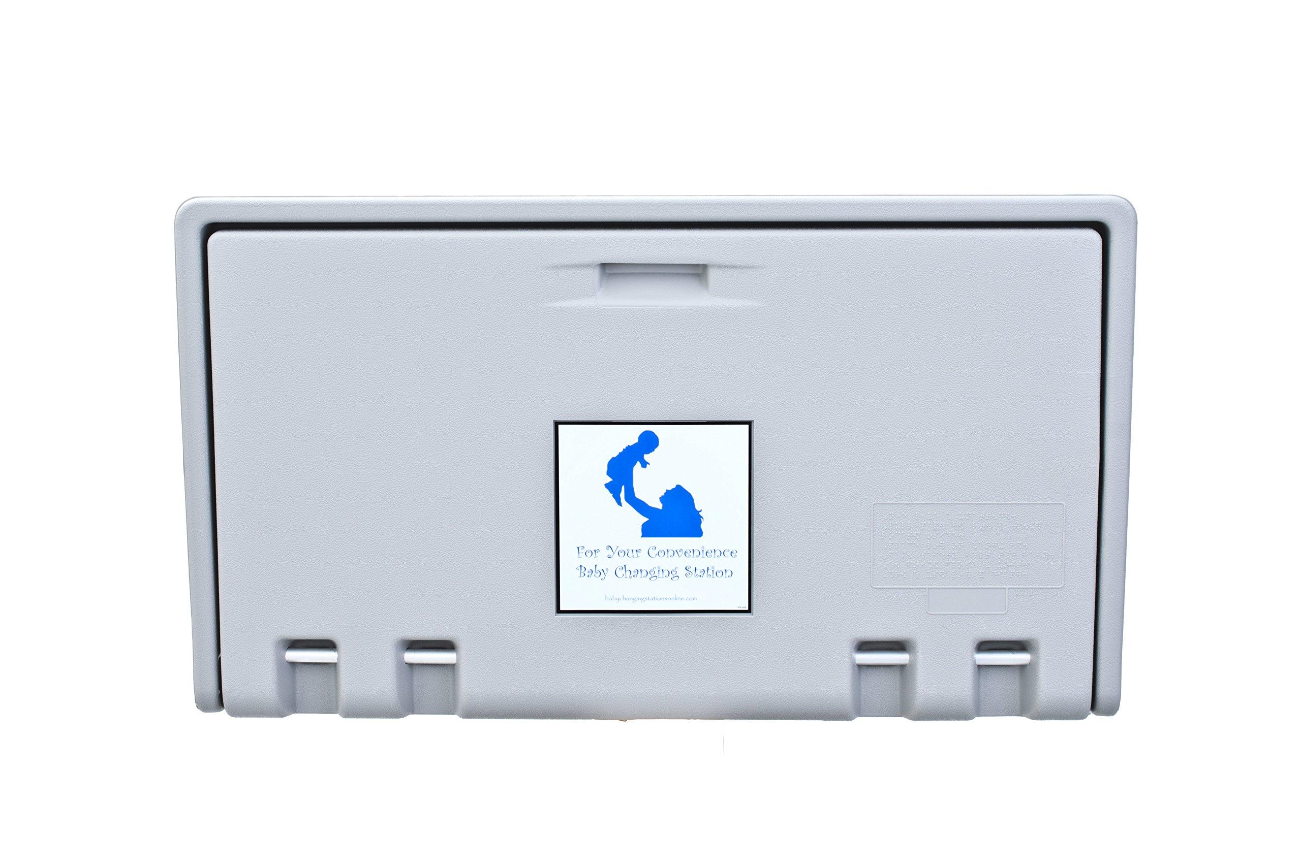 AHD107-01 Grey Horizontal Baby Changing Station