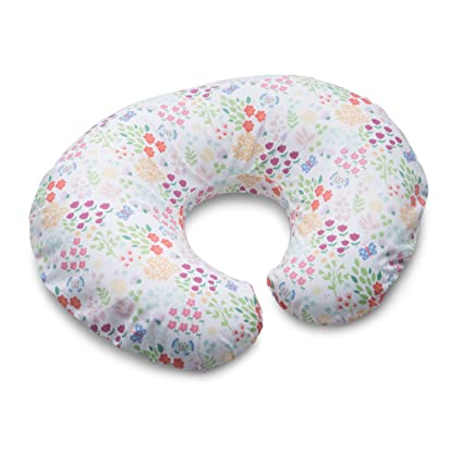 Blue Pink Posy Boppy Cotton Blend Nursing Pillow and Positioner