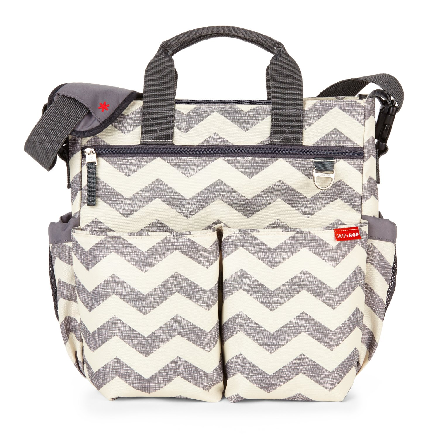 Skip Hop Messenger Diaper Bag with Matching Changing Pad, Duo Signature, Chevron by Skip Hop