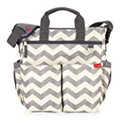 Skip Hop Messenger Diaper Bag With Matching Changing Pad, Duo Signature, Chevron
