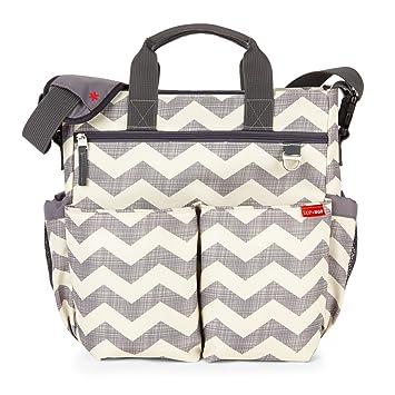 8c03b9f45d Amazon.com : Skip Hop Messenger Diaper Bag with Matching Changing Pad, Duo  Signature, Chevron : Baby
