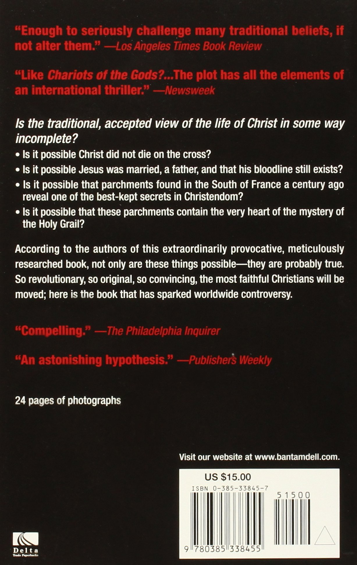 holy blood holy grail the secret history of christ u0026 the