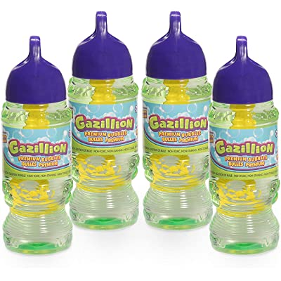 Ga Zillion Bubbles Solution 8 oz. 4 Pack~Bonus Toy Daze Exclusive Lucy Loopsie and Carrier: Toys & Games