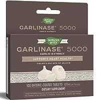 Nature's Way Garlinase 5000; 3.4% Garlic Extract Per Serving; 100 Enteric-Coated Tablets (Packaging May Vary)