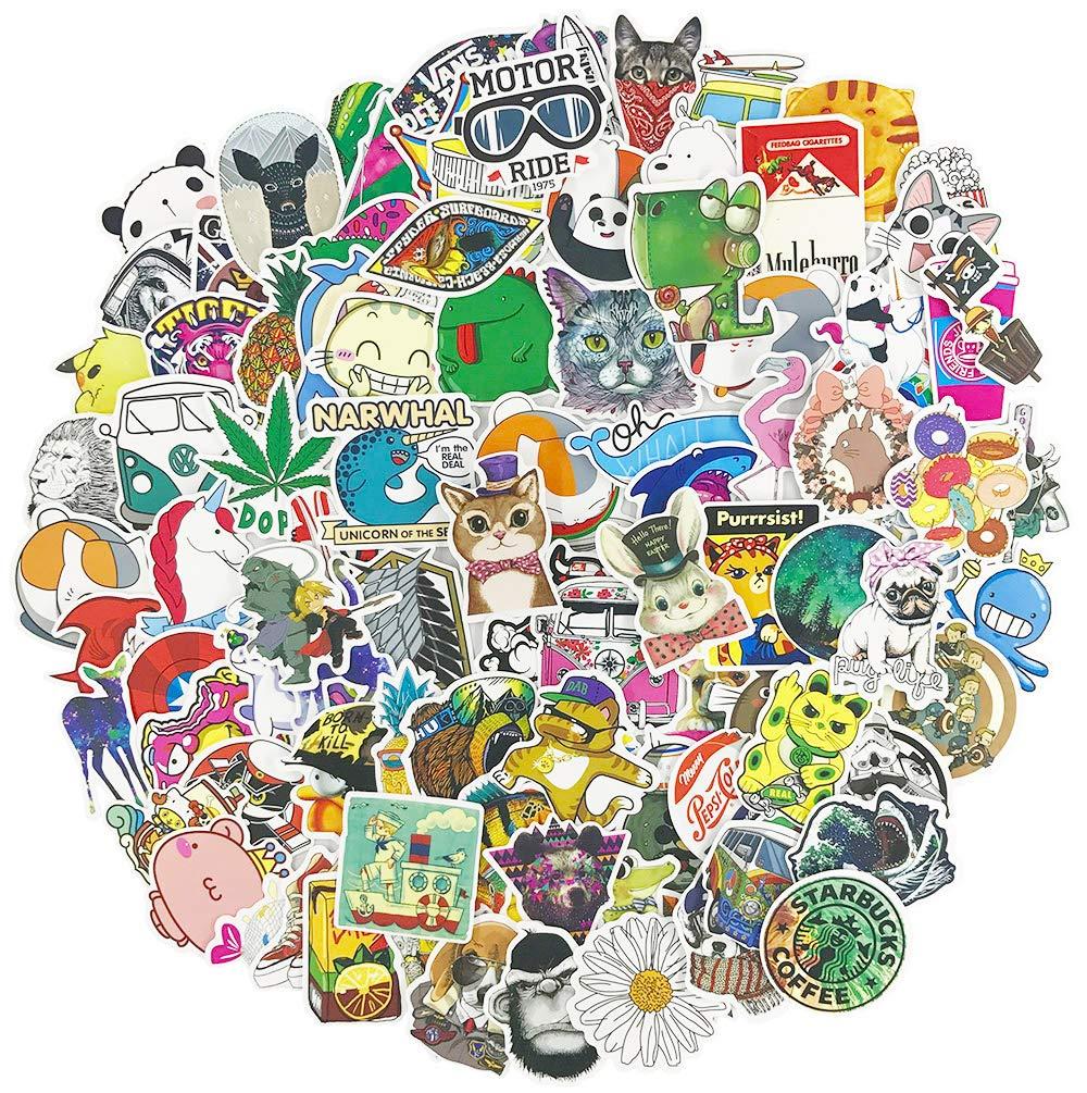 Stickers Calcos 100 un. Cartoon Origen U.S.A. (7QQBFF45)