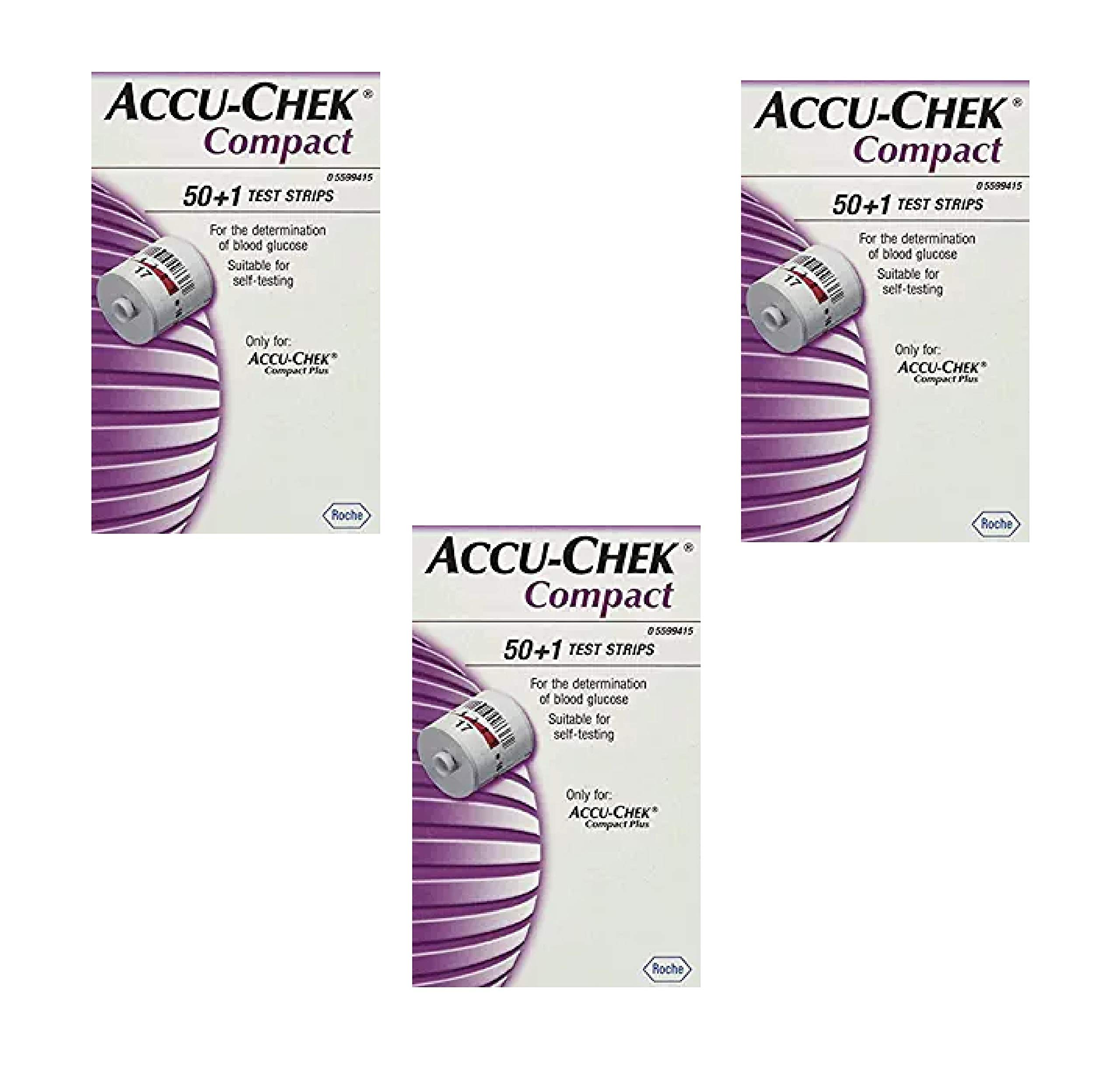 Accu Chek Compact Test Strips 51 Each (3 Pack) by Accu Chek (Image #1)