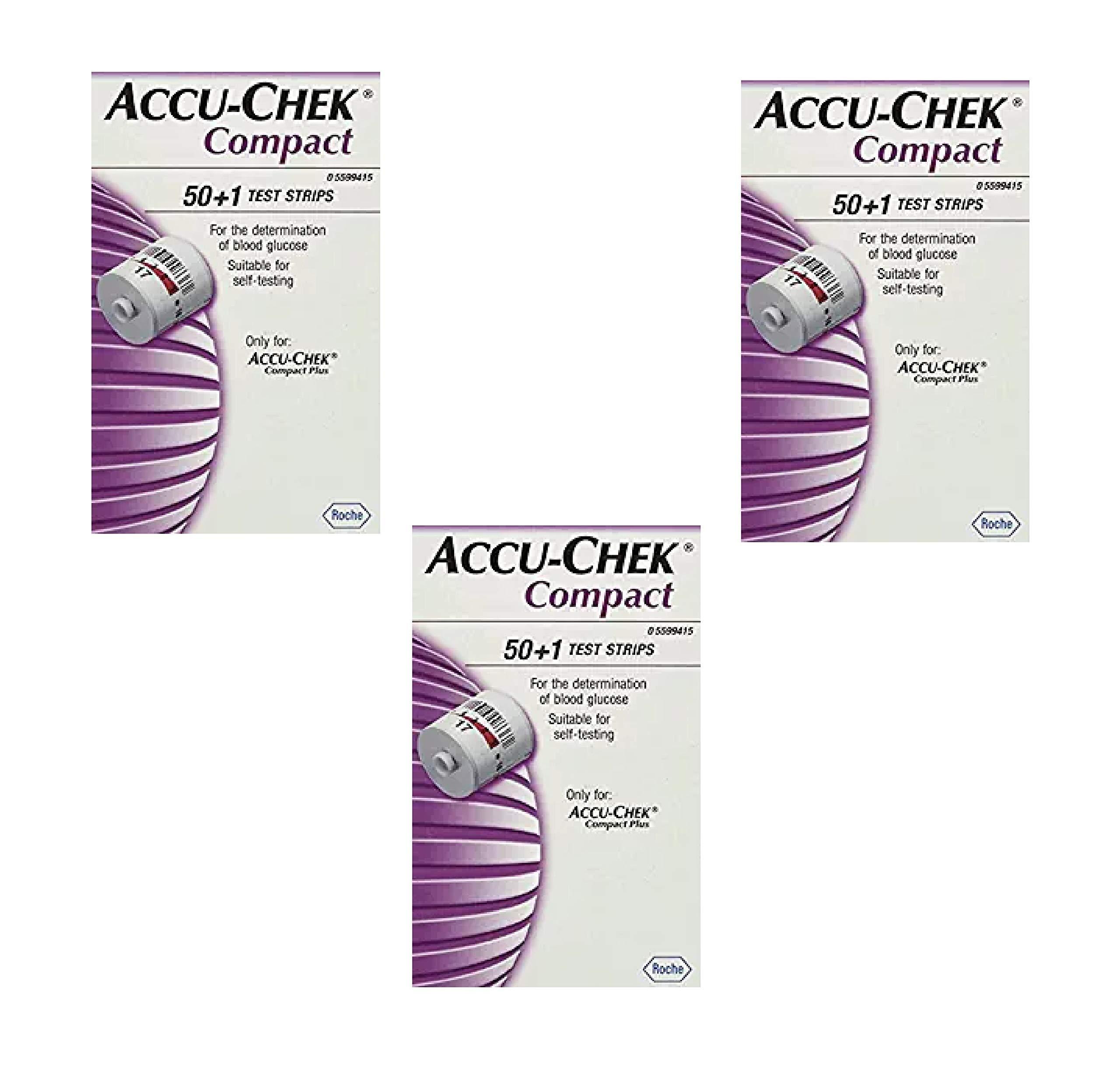 Accu Chek Compact Test Strips 51 Each (3 Pack)