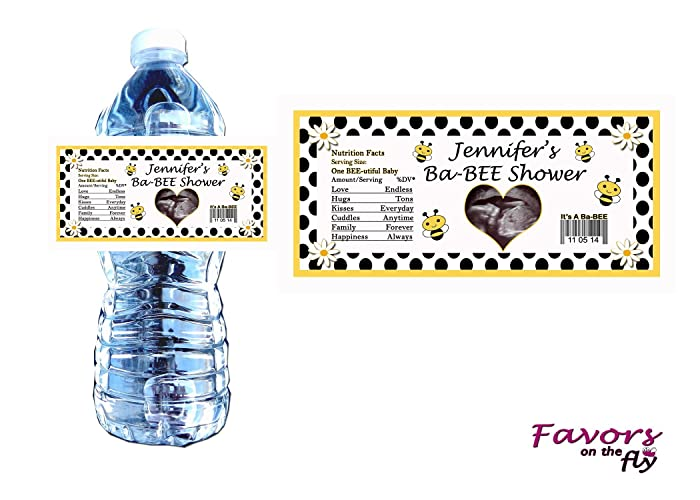 Amazon com: 20 Bumble Bee Baby Shower Personalized