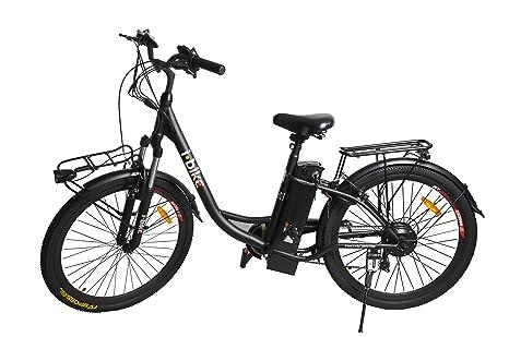 ibike bicicletta  i-Bike City Easy Bicicletta Elettrica Unisex - Adulto, Nero, 180 x ...