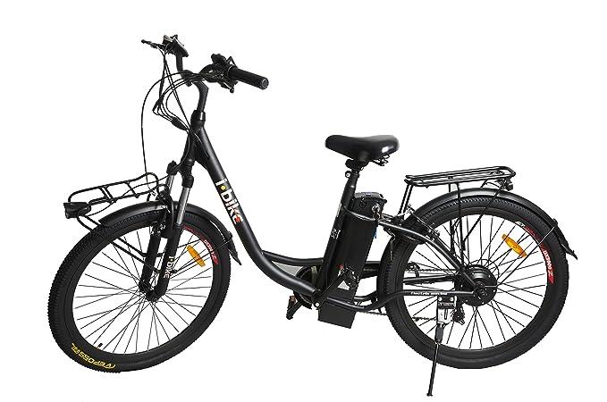 34 opinioni per i-Bike City Easy Bicicletta Elettrica Unisex – Adulto, Nero, 180 x 90 x 32 cm