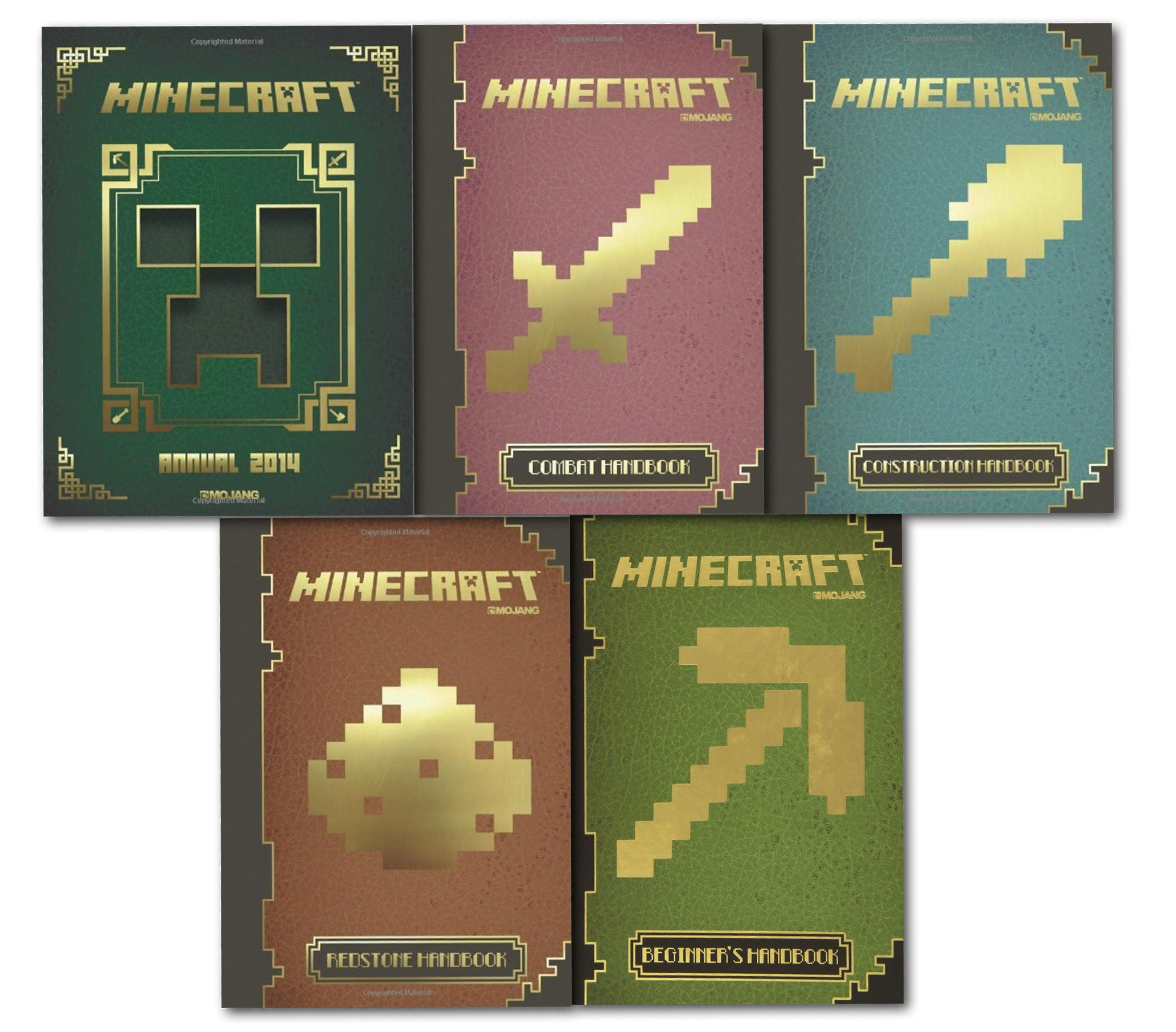 Amazon Fr Minecraft 5 Handbook Collection Set Mojang Book