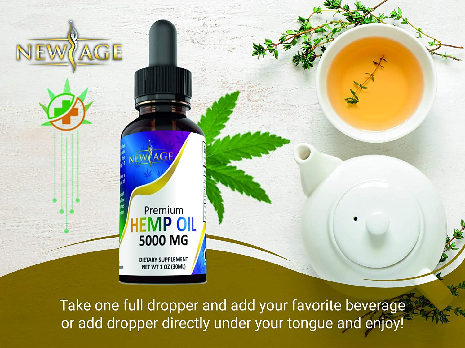 2Pack 5000mg Hemp Oil Extract for Pain Anxiety  Stress Relief  5000mg of Pure Hemp Extract  Grown