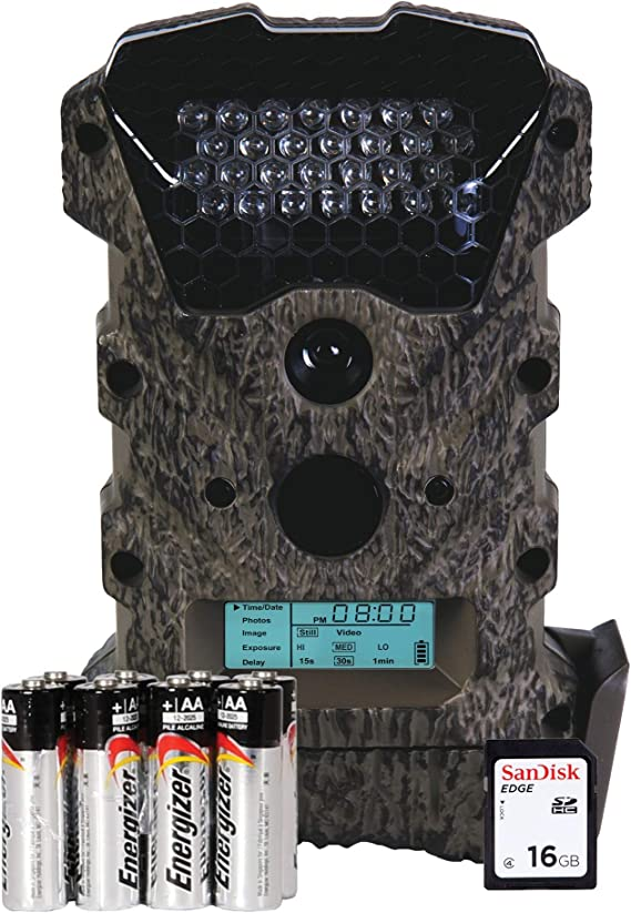 Wildgame Innovations WGICM0645 Scrapeline Lightsout 16MP 60 Foot Range Invisible IR Infrared Deer Hunting Game Trail Camera with SD Card & Batteries